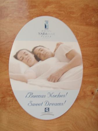 Hotel Yaramar: Good night,