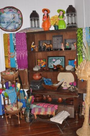 La Posada Azul: Many local crafts are offered for sale on site.