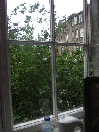 Dene Guest House: Linda vista desde la ventana de la habitación individual, con baño compartido