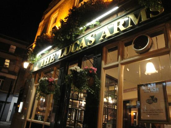 Evening Lights Of The Lucas Arms In Kings Cross Picture Of The Lucas Arms London Tripadvisor