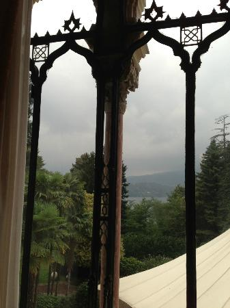 Villa Crespi: view of lake orta from second floor room