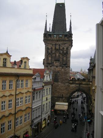 Domus Balthasar Design Hotel: View outside of Charles bridge looking east