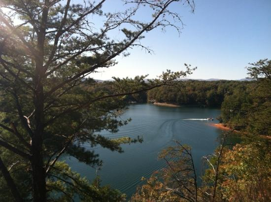 Keowee-Toxaway State Natural Area: from raven rock