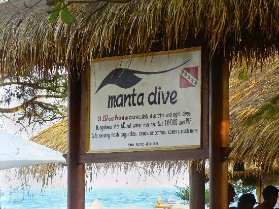 Manta Dive: Sign
