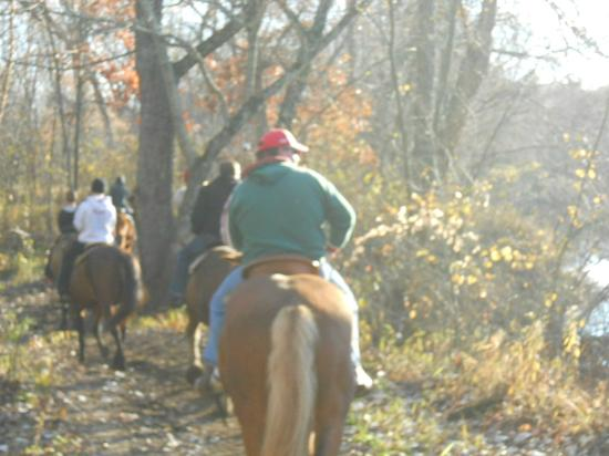 Red Ridge Ranch Riding Stable: on the trail