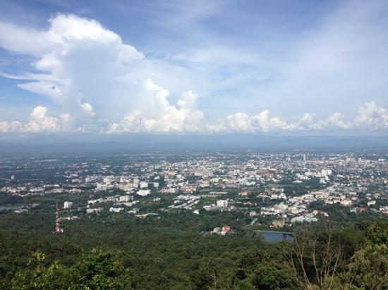 TK Guest House: Chiangmai from doi suthep