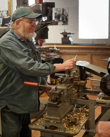 American Precision Museum: finishing the goblet on the lathe