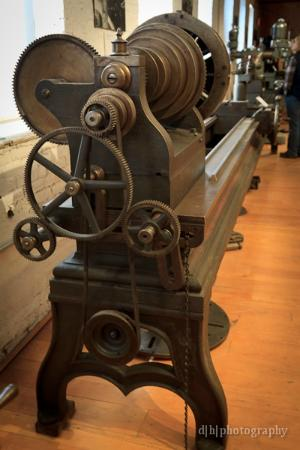 American Precision Museum: close up of one of the lathes