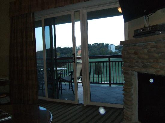 RiverStone Resort & Spa: View of the Golf course from our Living room