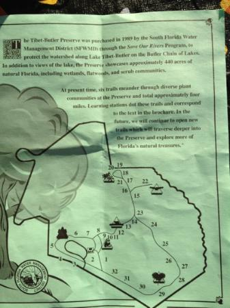 Tibet-Butler Preserve: Trail Map