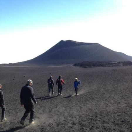 Monte Etna: trekking at 2960m altitudea round the summit of Mt. Etna
