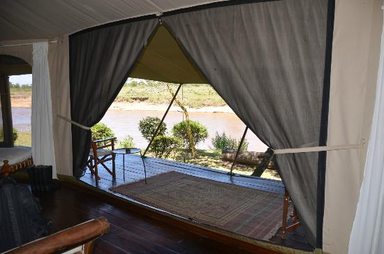Ngare Serian: View from inside tented cabin