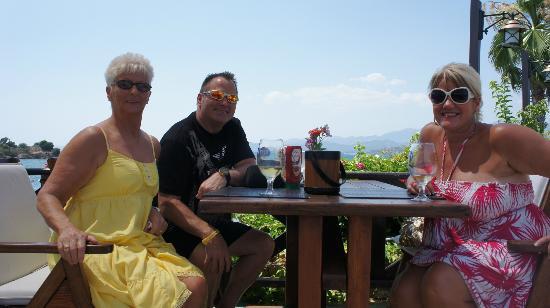 Hotel Mutlu: Mama , me , and wife Sharon , in bat area sea behind us ...