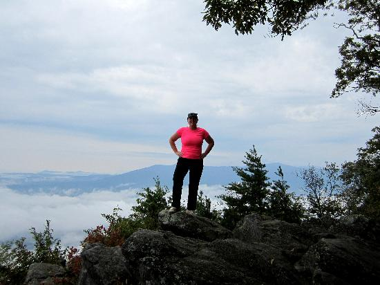 Fort Mountain State Park: Melissa on a rock at the top of the mountain