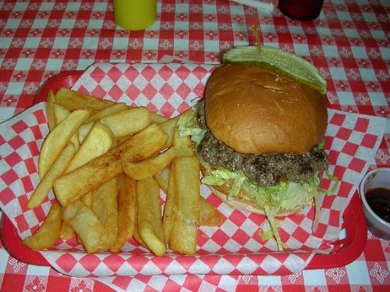 Nicki's Diner: The plain Nicki's burger in all its glory