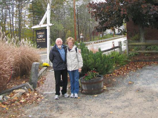 Federal House Inn: me and my wife at the entrance to the inn