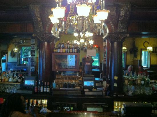 The back bar at the Silver Dollar Saloon
