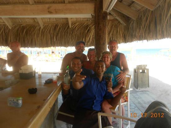 Ocean Blue & Sand: Our beach bar group.
