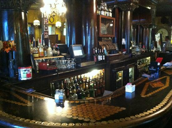The Brunswick back bar at the Historic Silver Dollar Saloon.