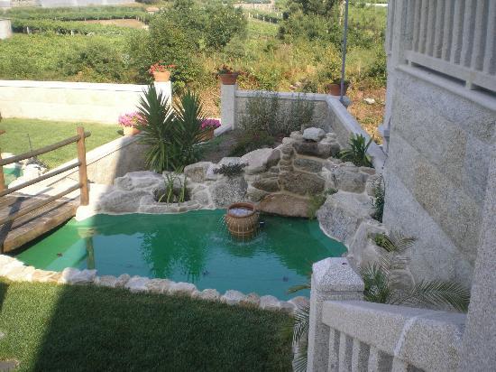 Casa Rural Terra Santa: precioso estanque.