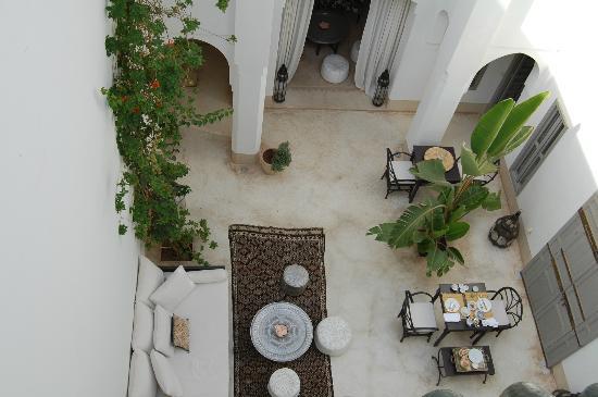 Riad Snan13: Vistas al patio