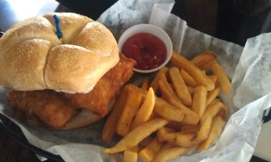 Mudhook Brewing Company: The beer battered fish sandwich was great