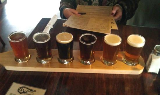 Mudhook Brewing Company: A tasting flight of the house beer