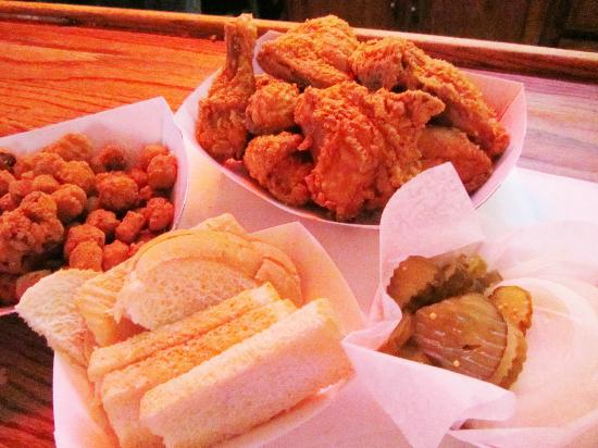 Eischen's Bar: All Chicken comes with White Bread Onions and Pickles