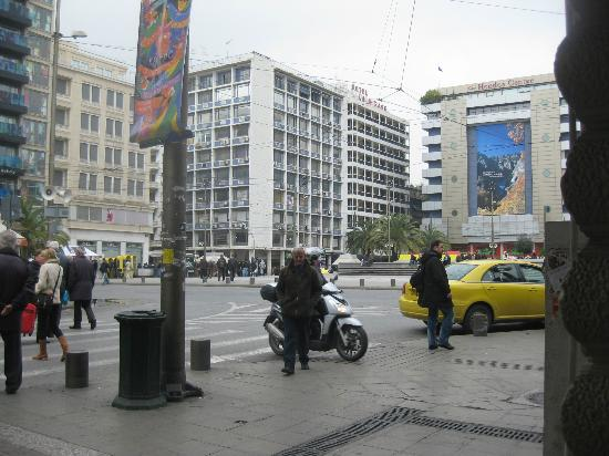 Pallas Athena Grecotel Boutique Hotel: Omonia Square - fine during the day but scary at night