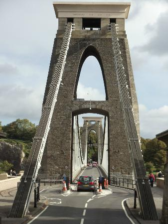 Clifton Suspension Bridge: A view done looking down the centre of this amazing bridge.