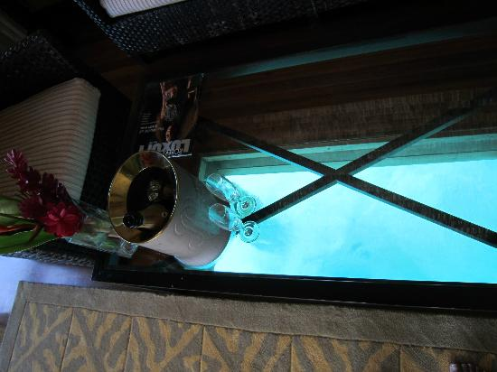 The St. Regis Bora Bora Resort: see through coffee table