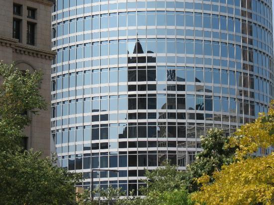 Reflection of Landmark Center.