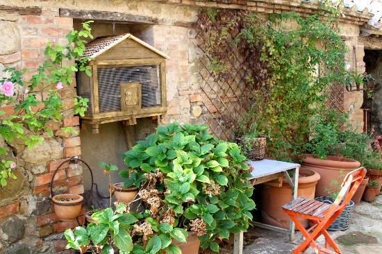 Follonico 4-Suite B&B: Gardening bench
