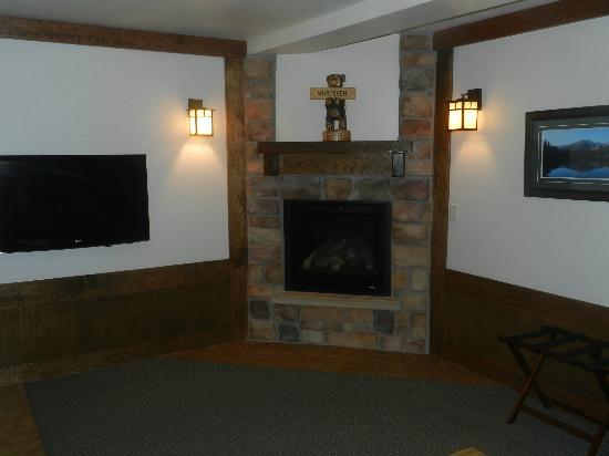 The Haber Motel: Fireplace