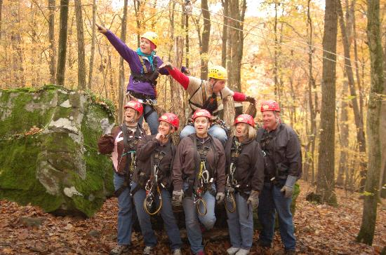 Tree Frog Canopy Tours Zipline: Group photo at Tree Frog Canopy Tour