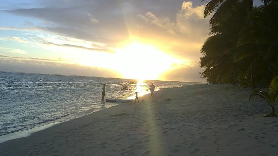 Makayla Palms: sunset on the beach in front of the villa