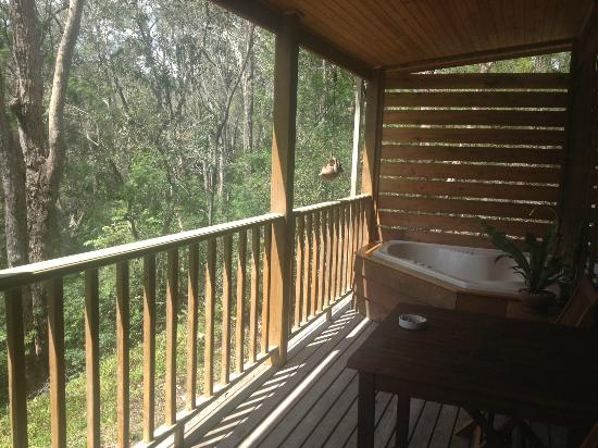 Bingle Tree Retreat: Veranda/Spa