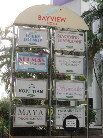 Bayview Hotel Georgetown Penang: Hotel signboard