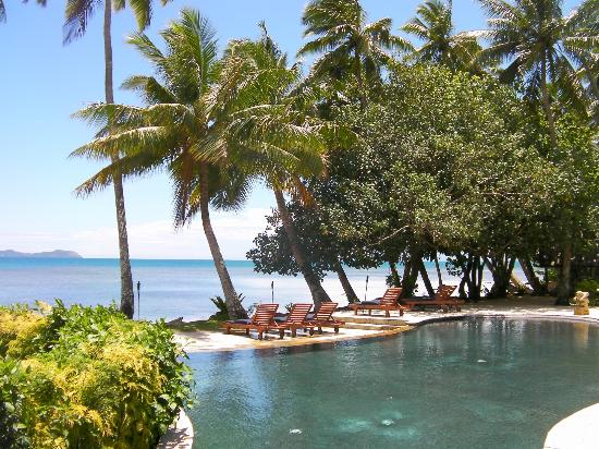 Beqa Lagoon Resort: another view from pool