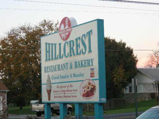 Hillcrest Restaurant: sign