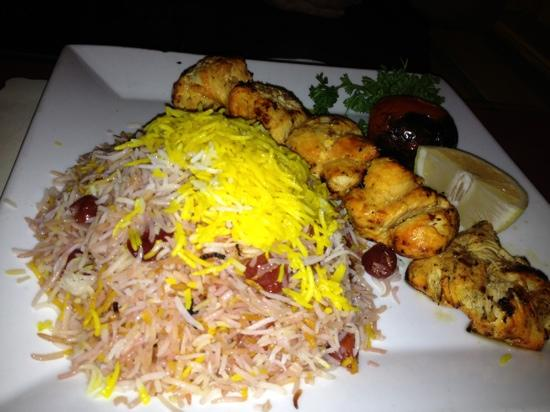 Darya Restaurant Santa Monica: chicken kabab with sour cherry rice is delicious