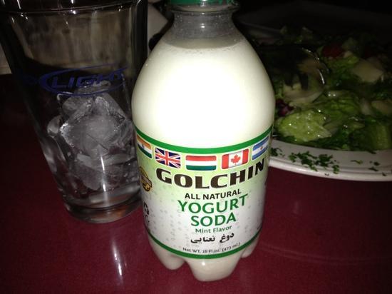 Darya Restaurant Santa Monica: dough (yogurt soda) carbonated is yummy