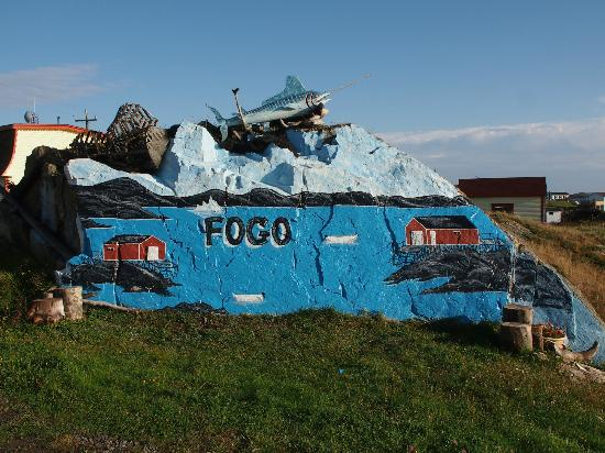 "Peg's Place: ""the rock"" art across the street"