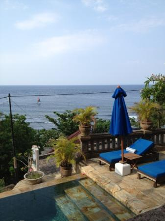 Bayu Cottages Hotel and Restaurant: View from Bayu Cottages' restaurant