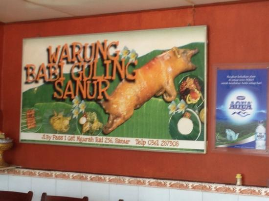 Babi Guling Sanur: poster on wall