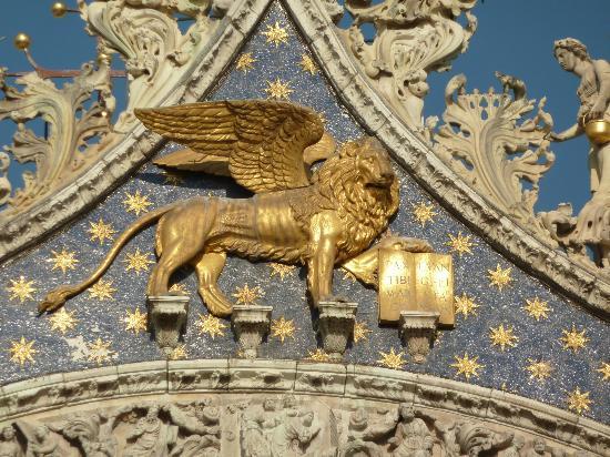 Symbol Of Patron Saint Of Venice St Mark A Winged Lion