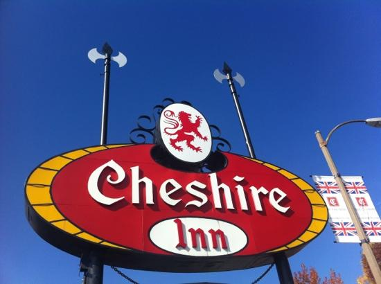 The Cheshire: The sign outside.