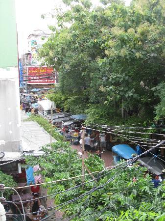 Sawasdee House: Sicht vom Aussenbad unseres Zimmers im ersten Stock