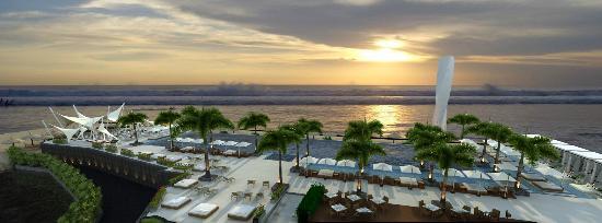 Vue Beach Club: Sunset from Vue Beach Bar