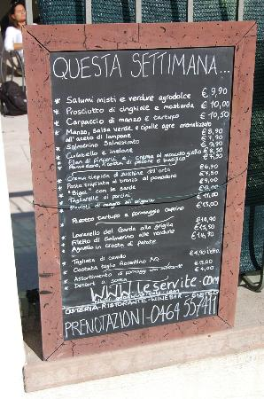 Osteria Le Servite: menu